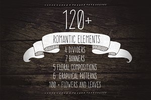 120+ Romantic Elements EPS, PNG, JPG