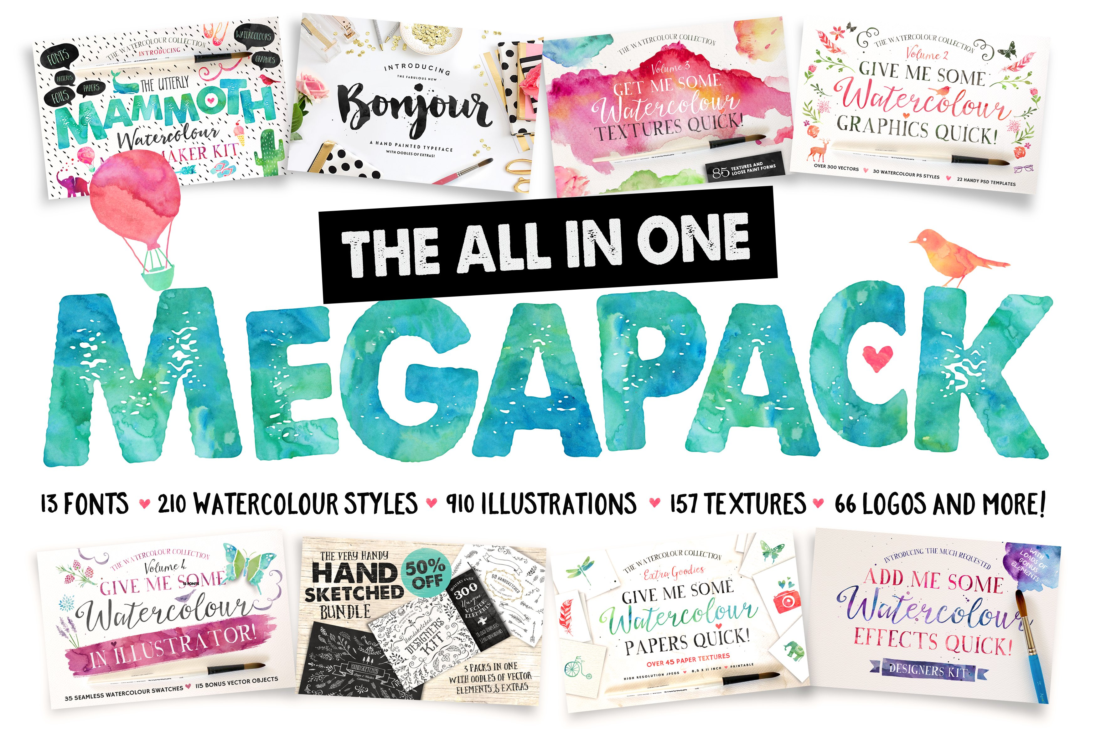 Download The All in One Megapack ~ Graphics ~ Creative Market