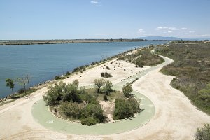 Cycleway on the Ebro delta