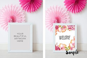 Party mock up frame, frame mockup