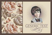 Girl Flowers peonies Greeting card