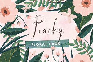 Peachy - Painted Floral Graphics