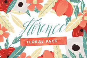 Florence - Christmas Floral Set
