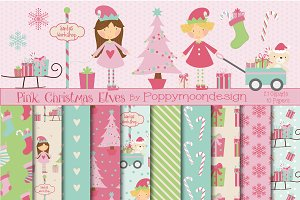Pink Christmas Elves