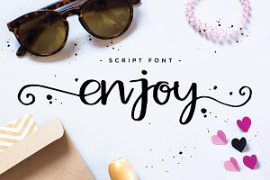 Enjoy script font
