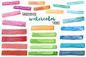 Watercolor strokes clip art