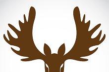Vector image of a deer head.