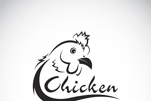 Vector design chicken is text.