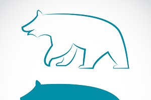 Vector image of a bear.