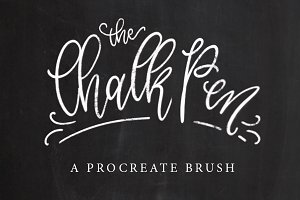 Chalk Pen Procreate Brush