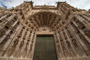 Sevilla Cathedral Gothic Portal