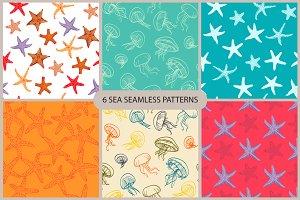 6 sea seamless pattern