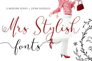 Mrs Stylish Fonts+Extras Update