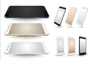 Smartphone vector mockup set