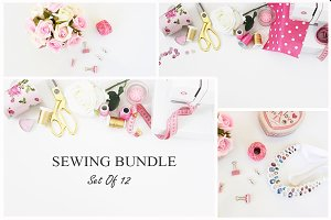 Sewing Photography Bundle -Set Of 12