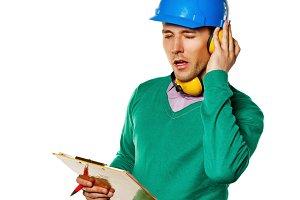 Architect holding a checklist