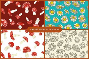 Nature seamless patterns
