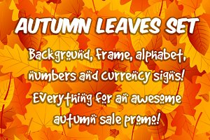 Autumn Sale Leaves Big Set