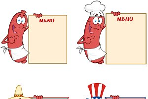 Sausages Showing Menu Collection