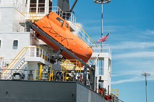 life boat for emergency crew
