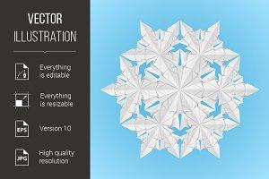 White paper snowflake