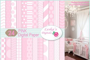 Pink Digital Paper Backgrounds