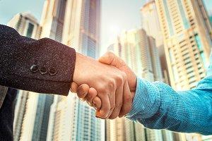 Business people handshake