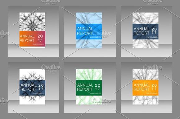 Set techno lines elements Vol.1 - Brochures