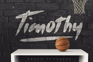 Timothy Brush Typeface