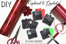 DIY - 16 Chalkboard Christmas Tags