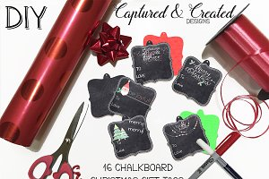DIY - 16 Chalkboard Christmas Tags