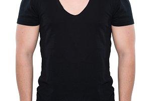 male black blank t-shirt