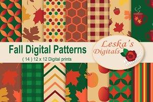 Fall Digital Paper - Autumn Pattern