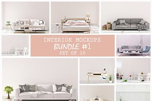 Blank Wall Interior Mockup Jpg Files