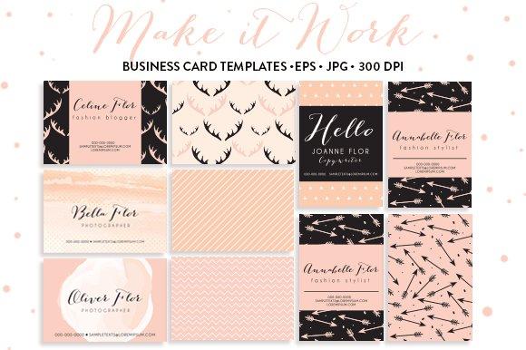 6 trendy business card templates business card templates creative market
