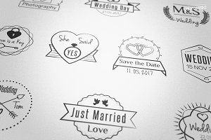 Wedding Stamp Badges Logos
