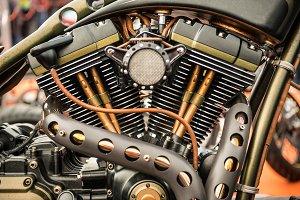 custom motorcycle engine