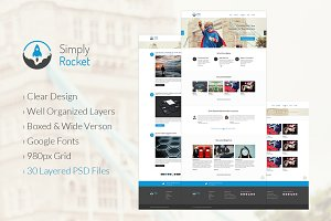 Simply Rocket | PSD Website Template