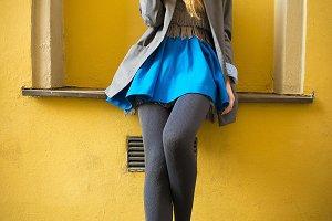 Colorful fashion lady portrait