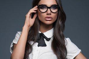 business woman wearing eyeglasses
