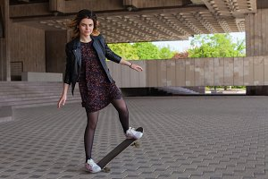 girl on the skateboard