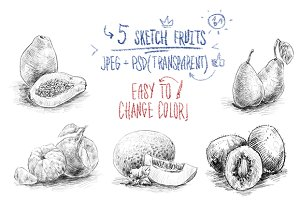 Sketch fruits #4
