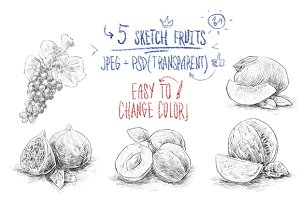 Sketch fruits #2