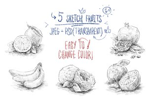 Sketch fruits #1