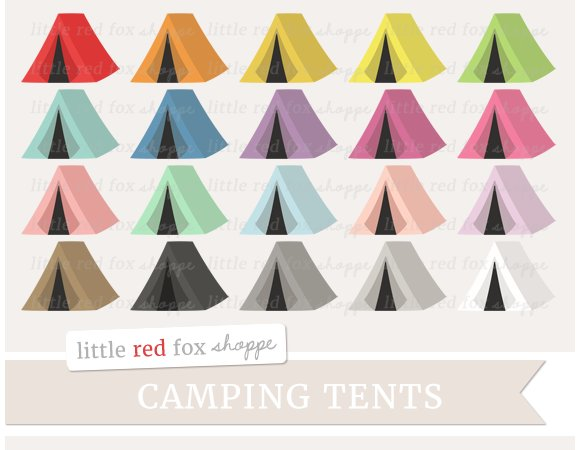 Camping Tent Clipart Illustrations Creative Market