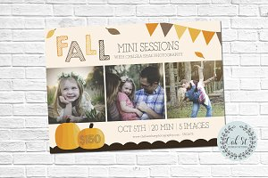 Fall Photographer Mini Session Flyer