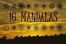 Collection of 16 Mandalas