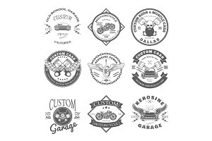 Custom Garage Label and Badges