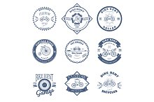 Bike Rent Label and Badges