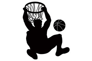Basketball Player Dunking Ball